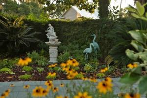 Garden with Herons